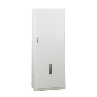 品家居 普達2尺環保塑鋼掃具收納櫃(二色)-62x47.5x190cm-免組