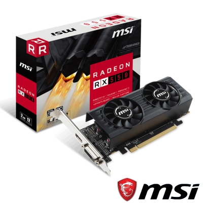 MSI微星 Radeon RX 550 2GT LP OC 顯示卡