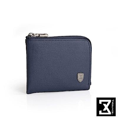 74盎司 FIT 時尚L型零錢包[N-507]藍