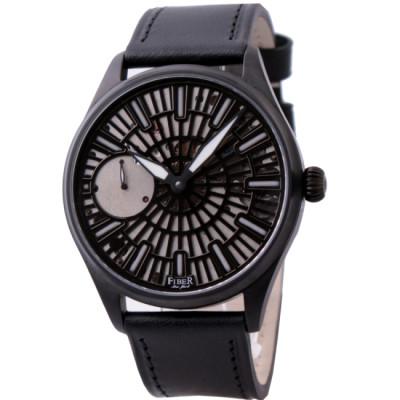 FIBER 法柏 黑旋風手上鍊機械腕錶-IP黑/42mm