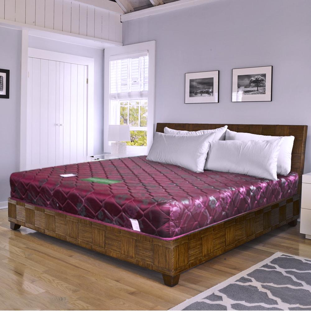 時尚屋 緹花蓆面5尺雙人硬式彈簧床墊
