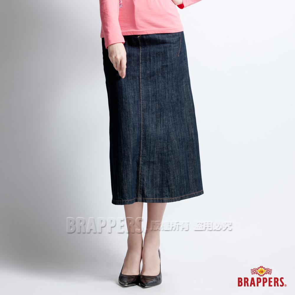BRAPPERS 女款 女垮裙系列-女用長裙-水洗藍