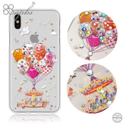 apbs APPLE iPhoneX 施華洛世奇彩鑽保護殼-夢想氣球