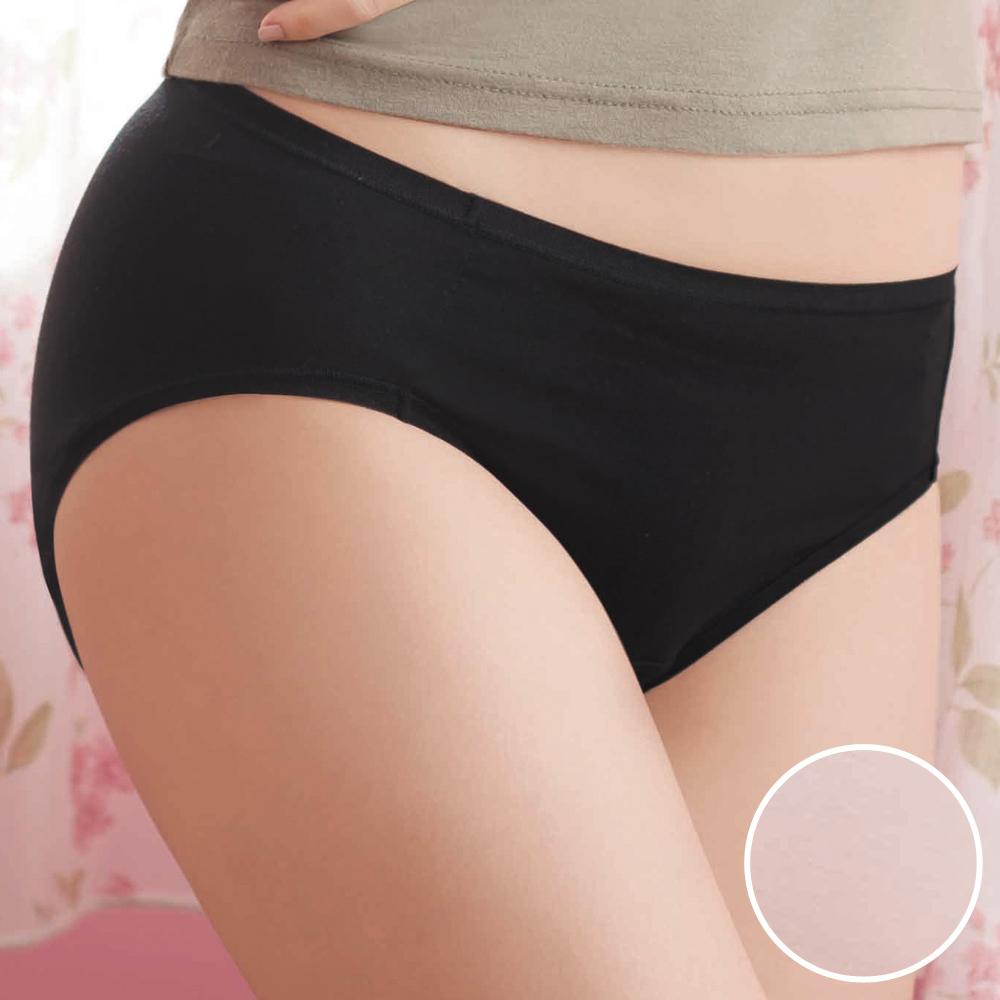 華歌爾-鋅纖健康M-LL中腰三角褲(粉妝膚)