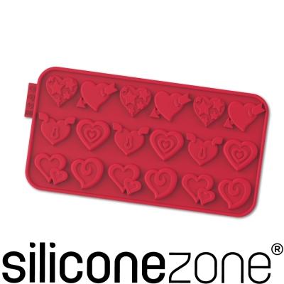 Siliconezone 施理康耐熱矽膠愛情巧克力模-紅色