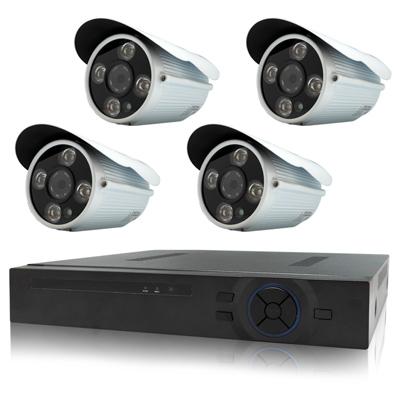 奇巧 4路AHD高清遠端監控套組(雙模切換SONY四陣列130萬攝影機x4)