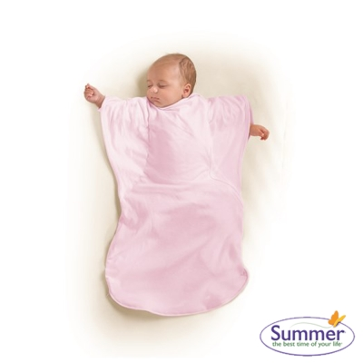 美國 Summer Infant 小蝴蝶背心睡袋 - 甜心粉紅
