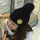 梨花HaNA-韓國親子可愛笑臉正能量毛帽毛線帽