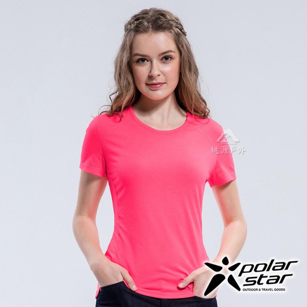 PolarStar 女 排汗快乾圓領T恤『粉紅』P18134