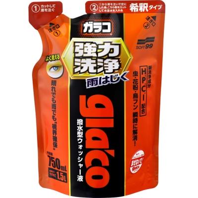 日本SOFT 99 免雨刷清潔液(強力去污型)-快