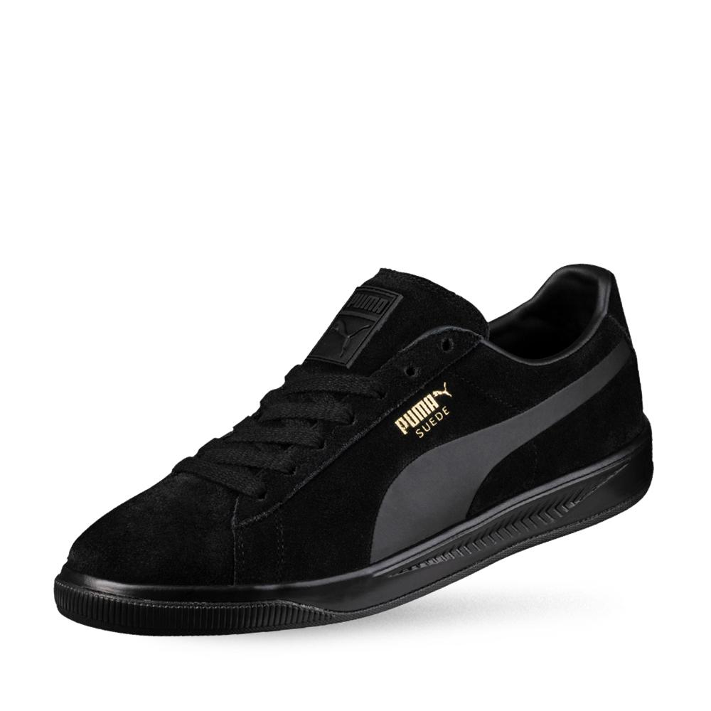 PUMA-Suede IGNITE 男女復古籃球運動鞋-黑色