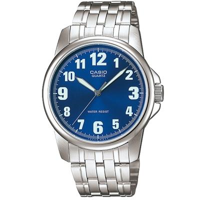 CASIO 都會城市新風範指針錶(MTP-1216A-2B)-藍/38.5mm