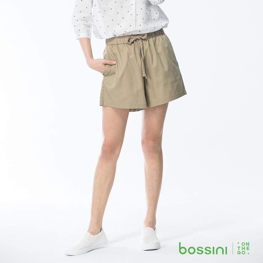 bossini女裝-素色輕便褲裙01卡其