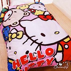 BUTTERFLY-Hello Kitty 搖粒絨刷毛暖暖被-歡樂同好會