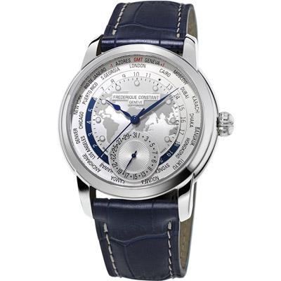 康斯登 CONSTANT Manufacture系列WORLDTIMER腕錶 -藍色