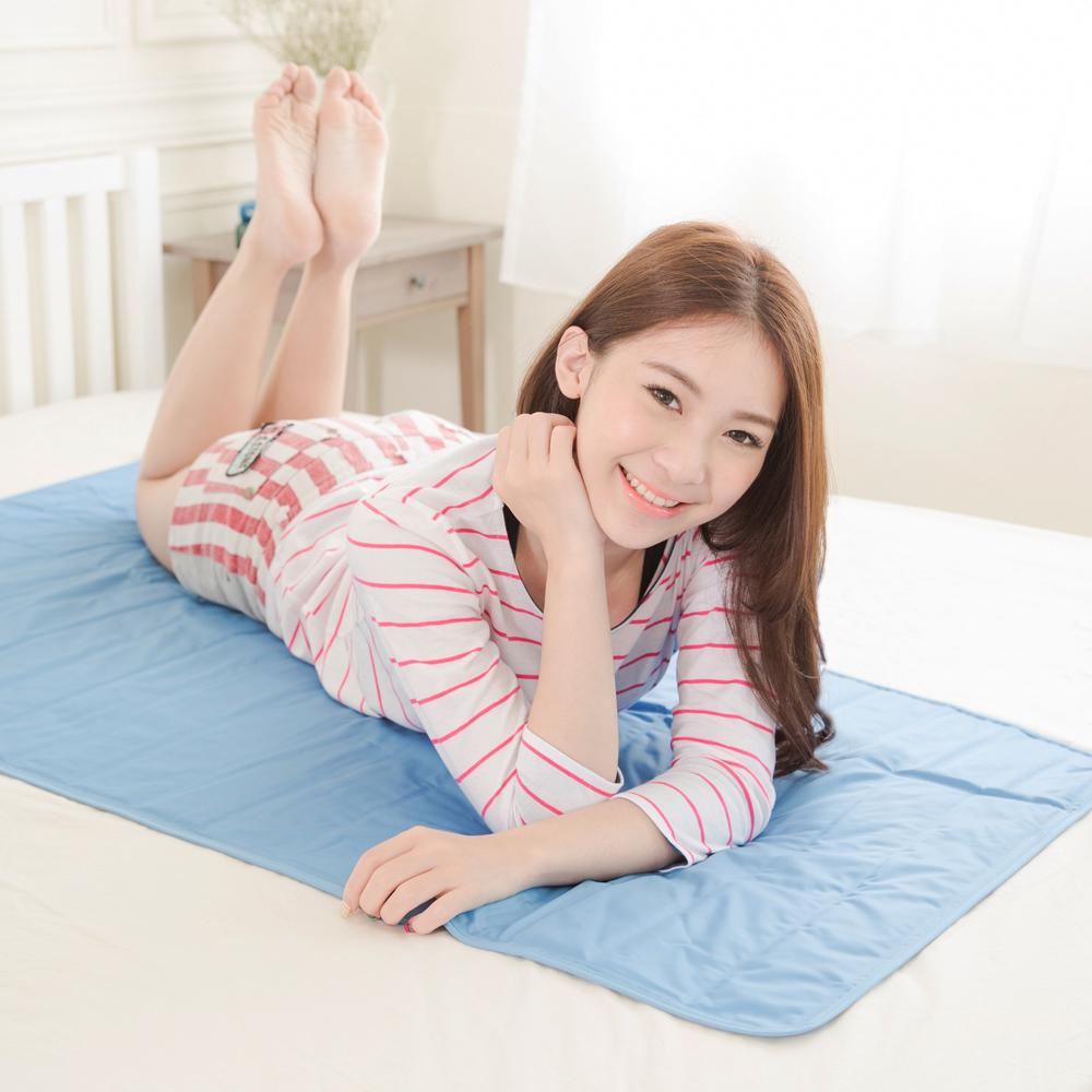 米夢家居-嚴選長效型降6度冰砂冰涼墊(50*150CM)單人床墊-2入
