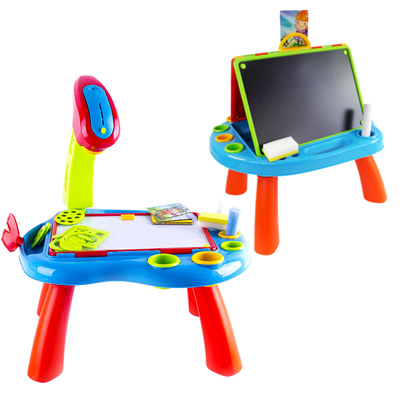 《Projector Desk》幼兒益智多功合一白/黑板投影繪畫桌(不附筆)