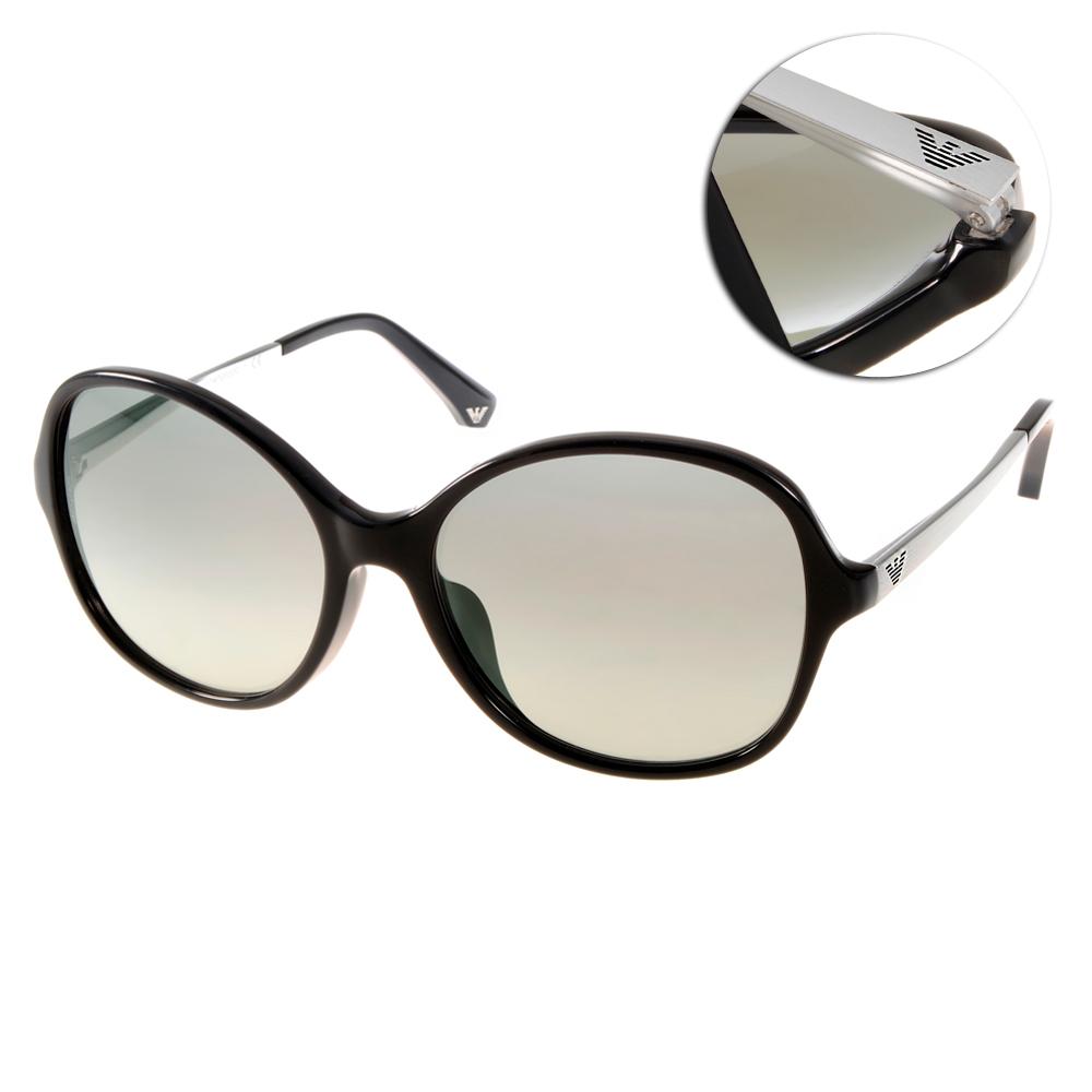 EMPORIO ARMANI太陽眼鏡 簡約大框/黑銀#EA4024F 501711