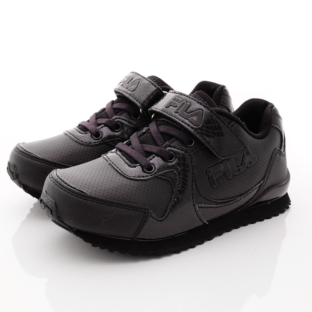 FILA頂級童鞋款-私校基本款-419R000黑(中大童段)HN