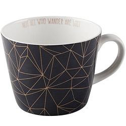 CreativeTops Earlstree燙金骨瓷馬克杯(幾何黑450ml)
