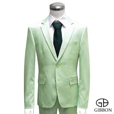 GIBBON 都會時尚修身成套西裝/平口褲‧淺綠