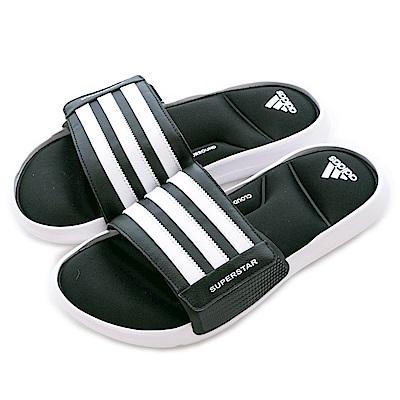 Adidas 愛迪達 SUPERSTAR-運動拖鞋-男