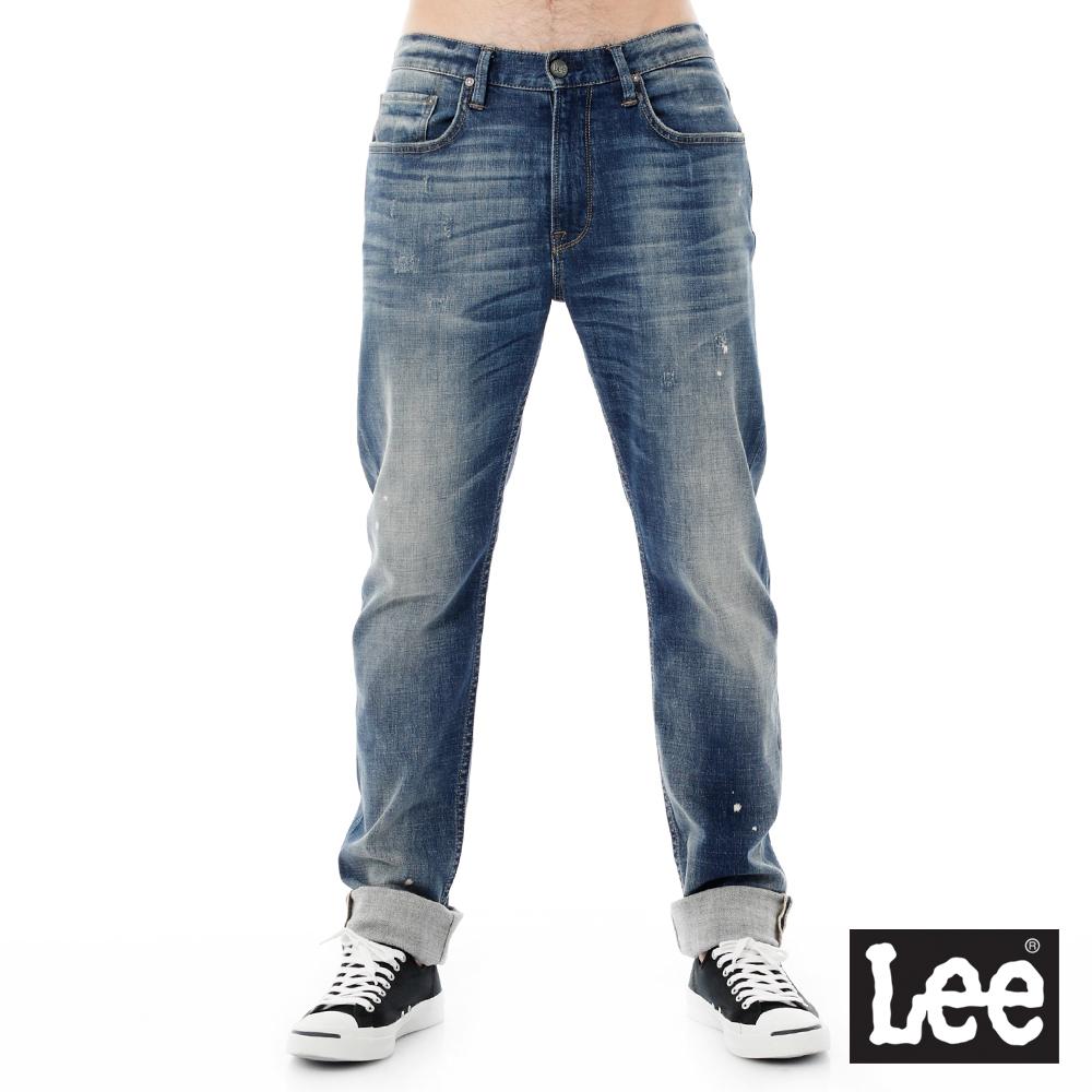 Lee 牛仔褲 735中腰舒適刷色小直筒牛仔褲/RG-男款
