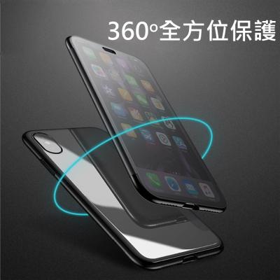 iPhoneX 透視系列 側翻視窗保護皮套(透黑)
