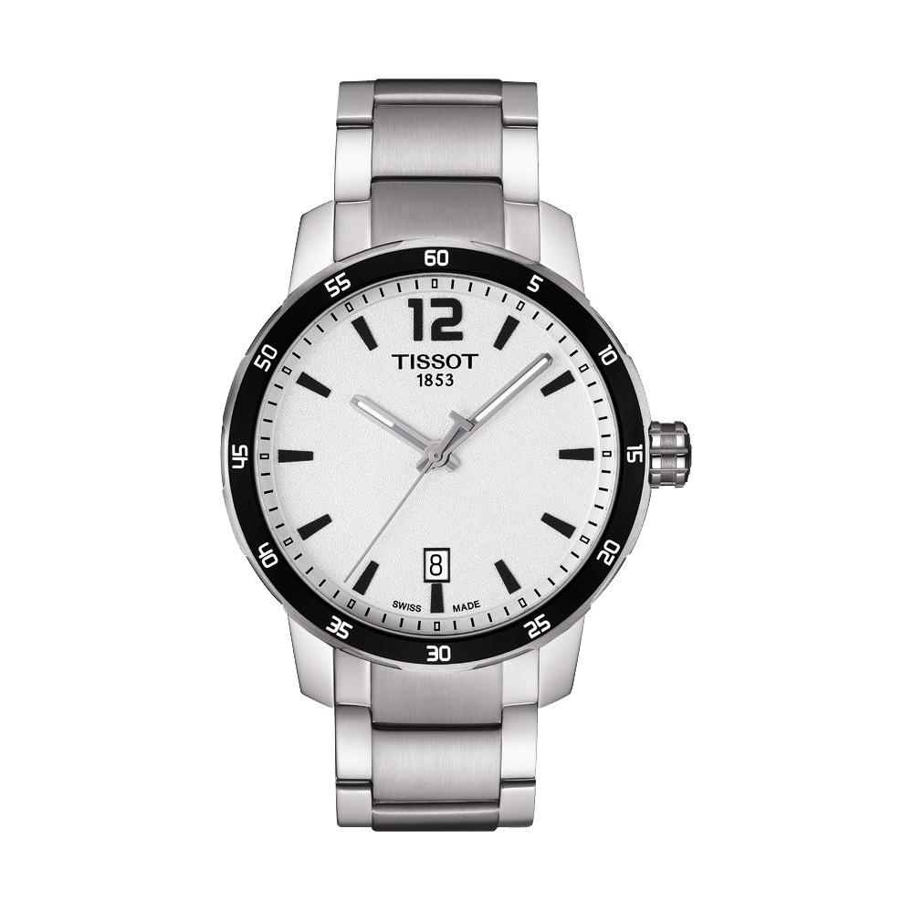 TISSOT QUICKSTER 經典運動腕錶-銀/40mm