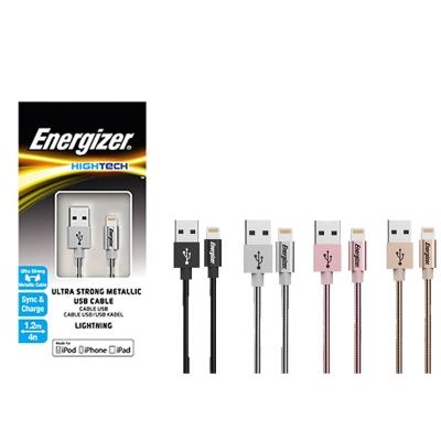 Energizer 勁量 Apple IOS 金屬充電傳輸線 - 120cm