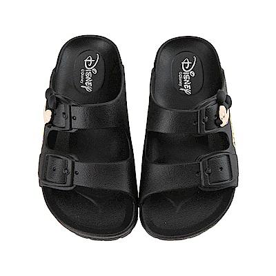 迪士尼 米奇 立體經典造型 休閒拖鞋-黑