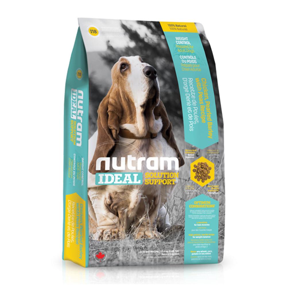 Nutram紐頓 專業理想系列 - I18 體重控制犬 雞肉豌豆 13.6kg