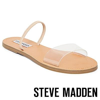STEVE MADDEN-DASHA-一字果凍平底涼鞋-米色