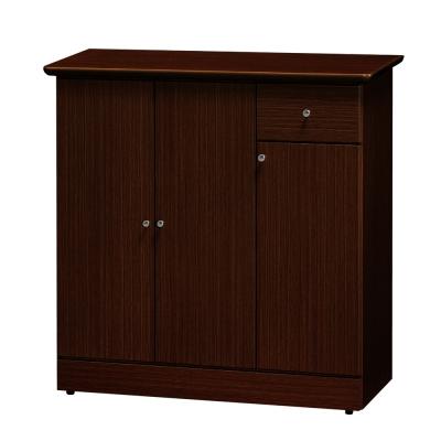 Boden-莉比日系簡約3尺鞋櫃(胡桃色)