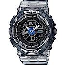 BABY-G果凍色澤混色漸層設計沁夏風格休閒錶( BA-110JM-1A)/黑灰43.3mm