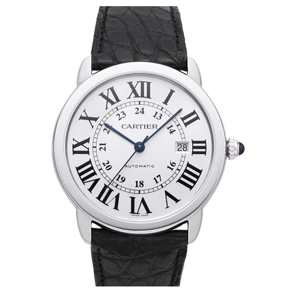 CARTIER卡地亞RONDE SOLO經典大型機械腕錶-白42mm