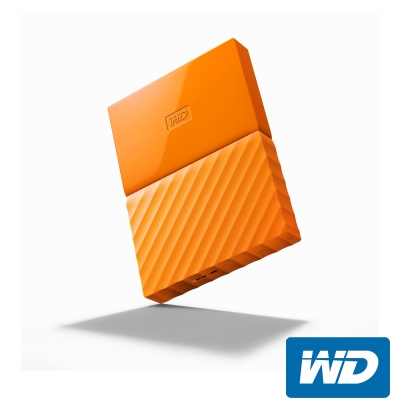 WD My Passport 1TB 2.5吋行動硬碟(WESN)-橘色系