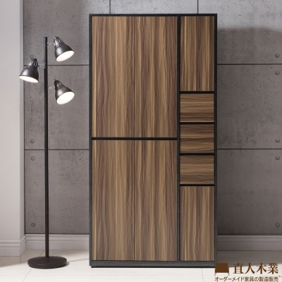 日本直人木業-KNOW輕工業風90CM高鞋櫃(90x40x182cm)