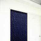 布安於室-銀色星空遮光長門簾-深藍-寬100x高130cm