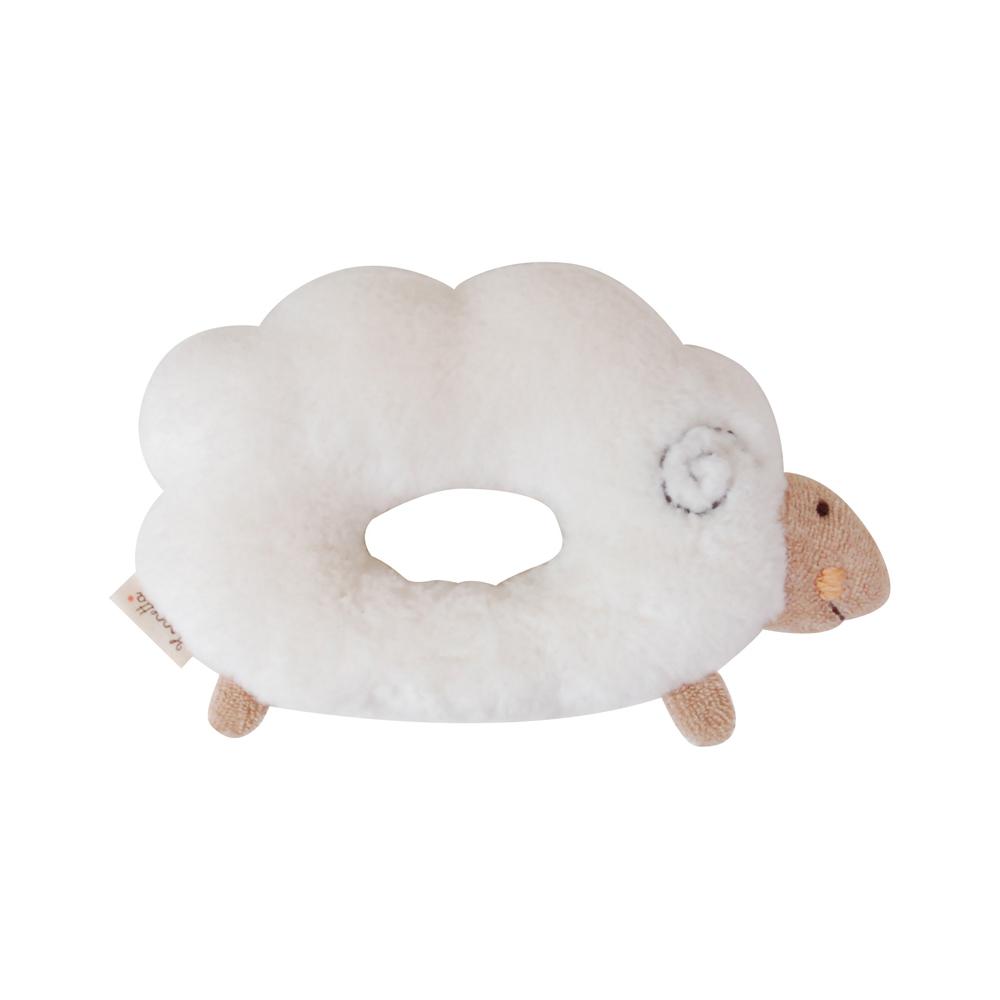 【Hoppetta*】有機棉-綿羊瑪莉甜甜圈搖鈴