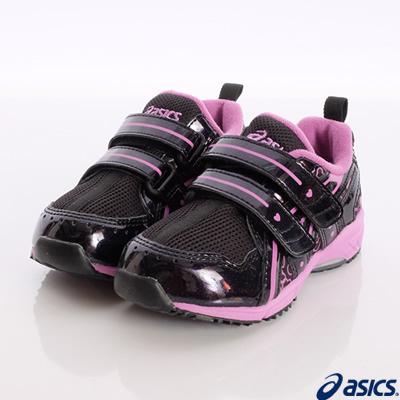亞瑟士SUKU2機能鞋-透氣穩定款-61-9033黑粉(小童段)-N0