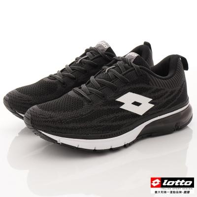 LOTTO 男款 編織 透氣網布 大氣墊 慢跑鞋-(LT6AMR3270黑)