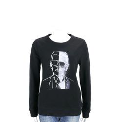 Karl Lagerfeld PHOTO 黑色老佛爺黑白肖像長袖T恤