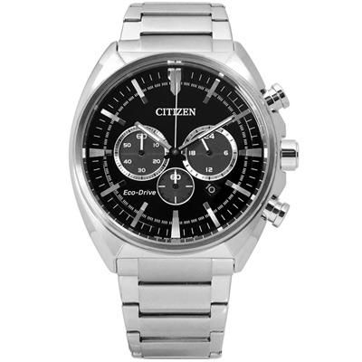 CITIZEN 尊爵雅緻計時光動能手錶(CA4280-53E)-黑/45mm