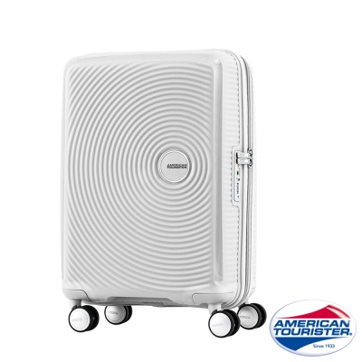 美國旅行者-20吋Curio硬殼TSA登機箱-白