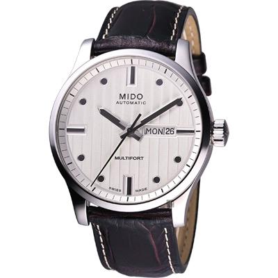 MIDO Multifort 先鋒系列經典機械腕錶-銀x咖啡/42mm