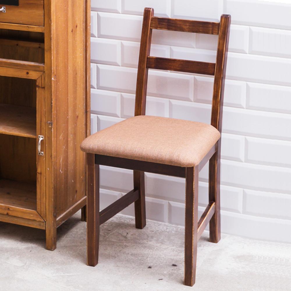 CiS自然行實木家具- 北歐實木書椅(焦糖色)深咖啡椅墊
