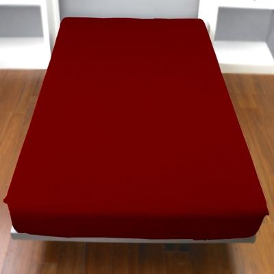 Yvonne-Collection雙人純棉床包-暗紅