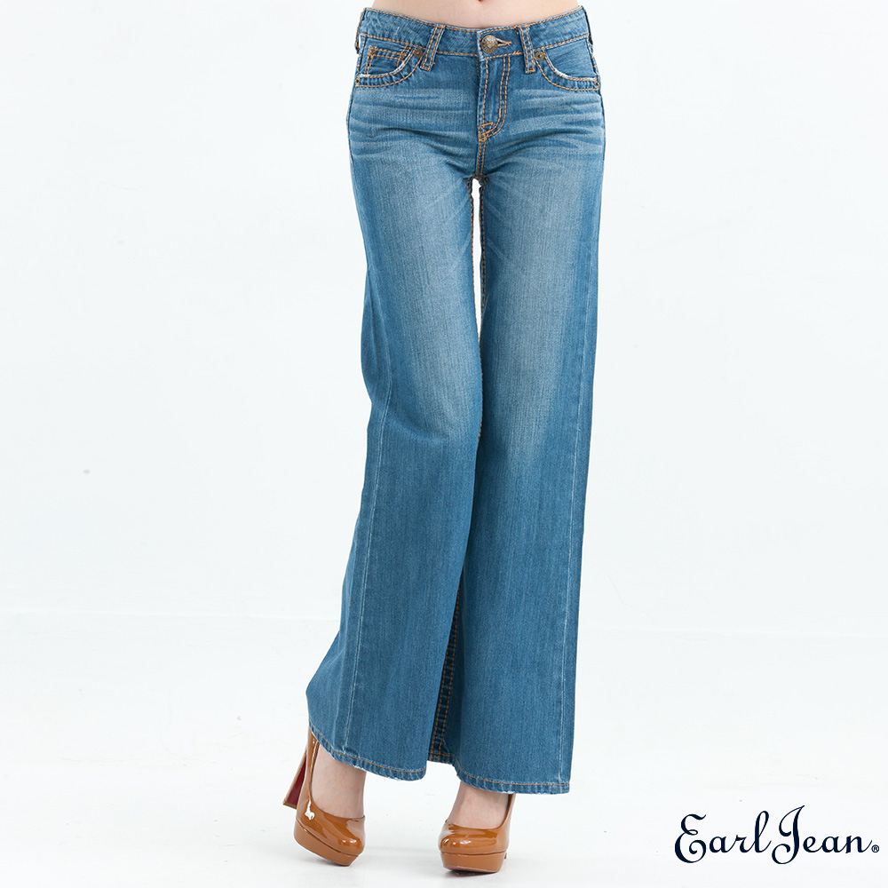 Earl Jean中腰合身靴型褲