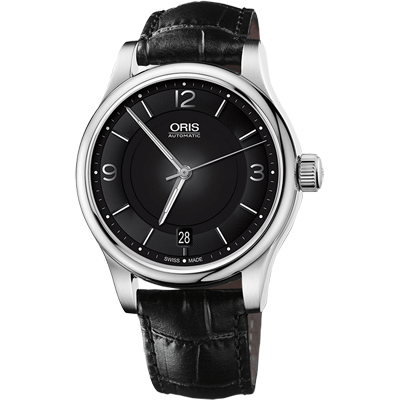 Oris Classic Date 都會 機械腕錶~黑 42mm